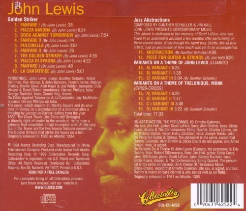 The Golden Striker/John Lewis Presents Jazz Abstractions