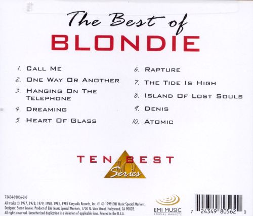 The Best of Blondie [CEMA Special Products]