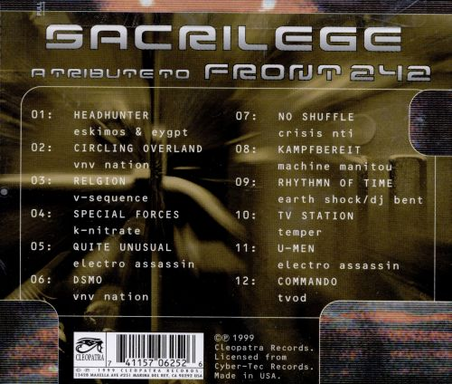 Sacrilege: A Tribute to Front 242