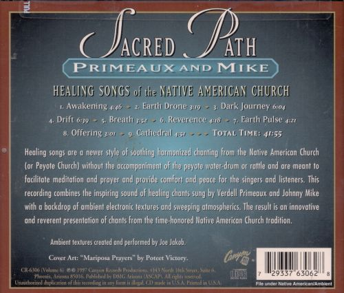 Sacred Path: Healing Songs of the Native American Church