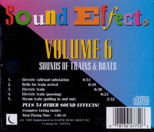 Sound Effects, Vol. 6: Sounds of Trains & Boats