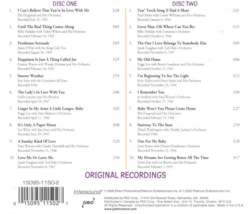 Sirens of Swing: Great Songs of the 30's & 40's - 2 Disc Set