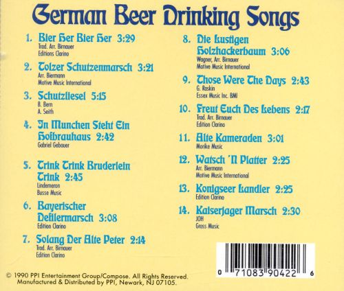 german beer drinking songs trace various artists. Black Bedroom Furniture Sets. Home Design Ideas