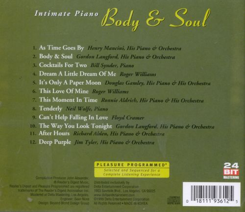 Intimate Piano: Body & Soul, Vol. 2