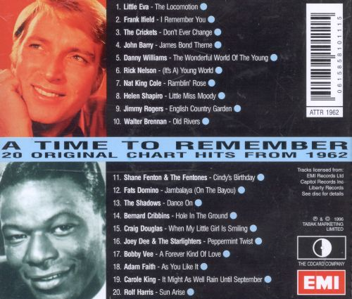 A Time to Remember: 20 Original Chart Hits from 1962