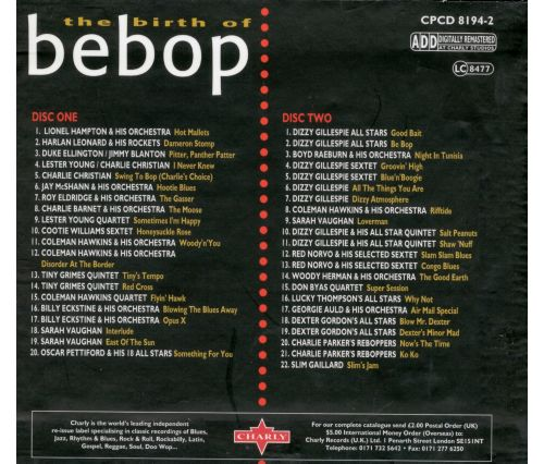 Birth of Be-Bop [Charly]