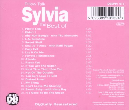 Pillow Talk: The Best of Sylvia