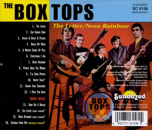 The Letter Neon Rainbow The Box Tops