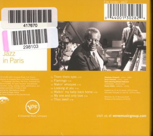 Jazz in Paris: Oscar Peterson-Stephanie Grapelli Quartet, Vol. 1