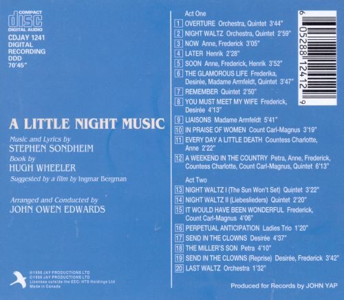 A Little Night Music [1990 Studio Cast]