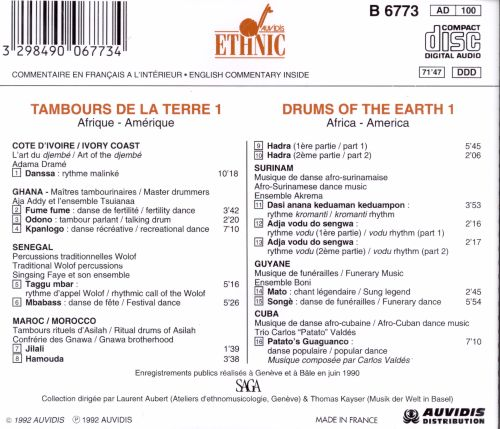 Drums of the Earth, Vol. 1 [Ethnic]