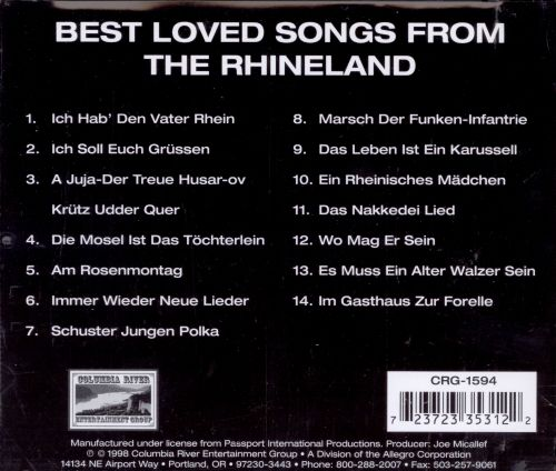 The Best Loved Songs of the Rhineland