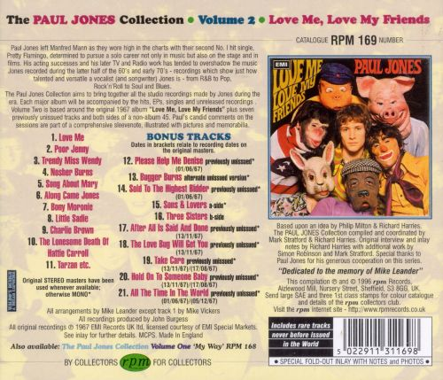 The Paul Jones Collection Vol. 2: Love Me, Love My Friends