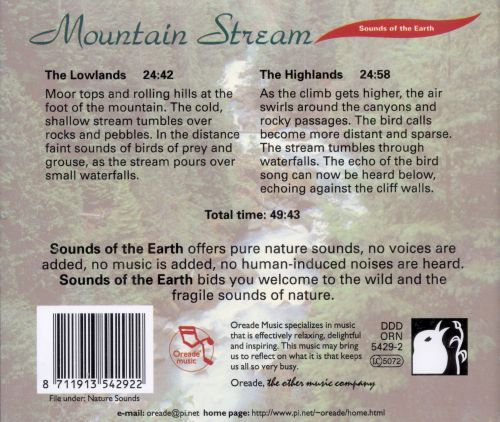 Sounds of the Earth: Mountain Stream