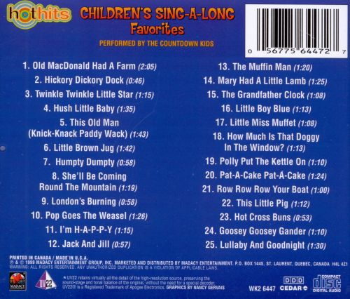 Hot Hits: Children's Sing-A-Long Favorites