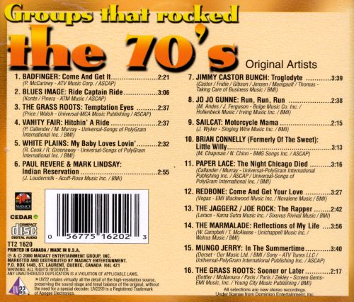 Groups That Rocked the 70's