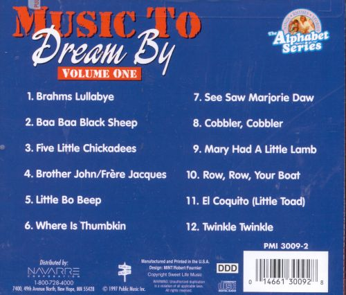 Music to Dream By, Vol. 1: Vocal