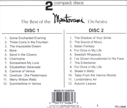 Best of the Mantovani Orchestra [Madacy 1994]