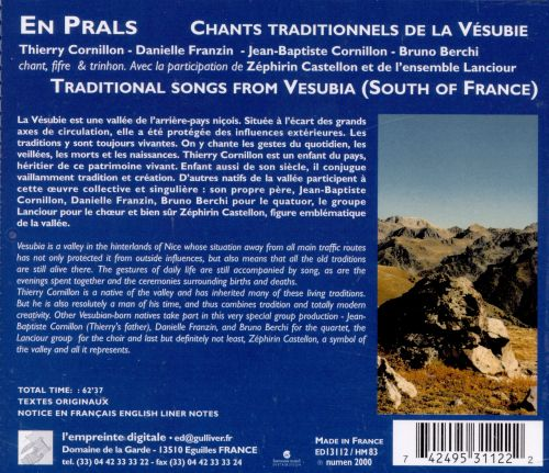 Cants d'En Amont: Traditional Songs from South of France