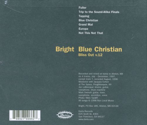 Bliss Out, Vol. 12: Blue Christian
