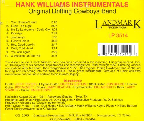 Hank Williams Instrumentals