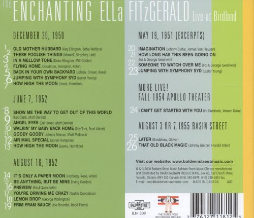 The Enchanting Ella Fitzgerald: Live at Birdland, 1950-1952