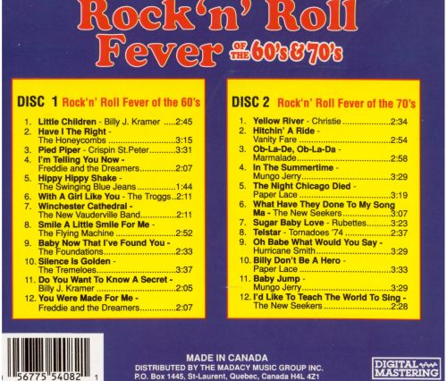 Rock 'n' Roll Fever of the 60's & 70's