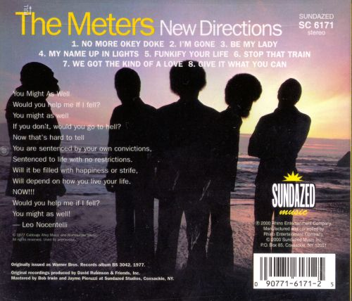 New directions the meters songs reviews credits allmusic discography browser previous the meters publicscrutiny Gallery