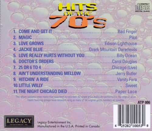 Hits of the '70s [Legacy Entertainment]