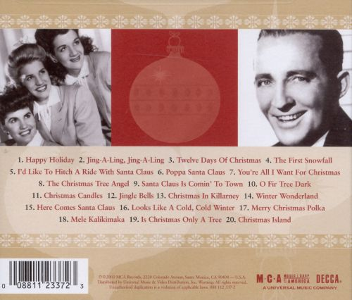 A Merry Christmas with Bing Crosby and the Andrews Sisters - Bing ...