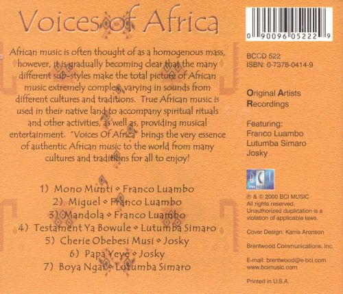 Voices of Africa, Vol. 1