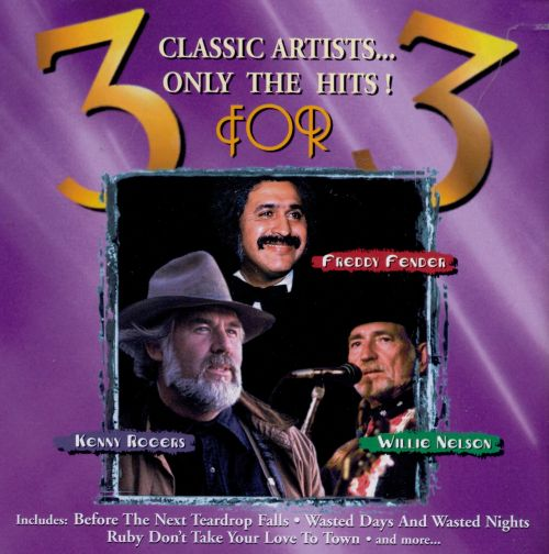 3 for 3: Willie Nelson, Kenny Rogers & Freddy Fender