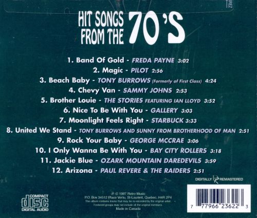Hit Songs from the 70's [Prime Cuts]