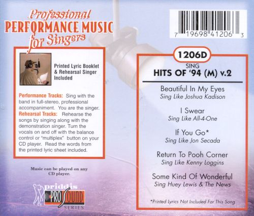 Sing Hits of '94 Vol. 4 (Male)