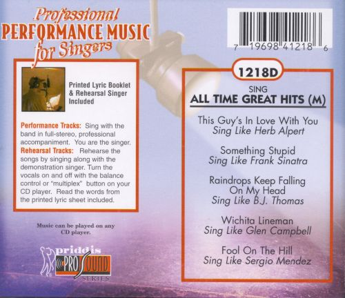 Sing Male All Time Great Hits