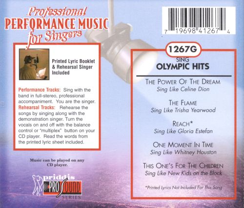 Sing Olympic Hits