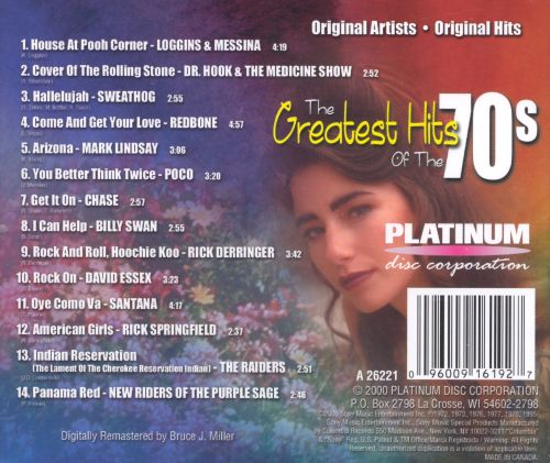 Greatest Hits of the 70's, Vol.12