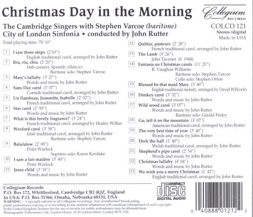 christmas day in the morning cambridge singers songs reviews credits allmusic - On Christmas Day In The Morning