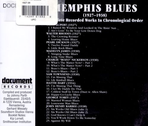 Memphis Blues: Complete Recorded Works 1927-1938