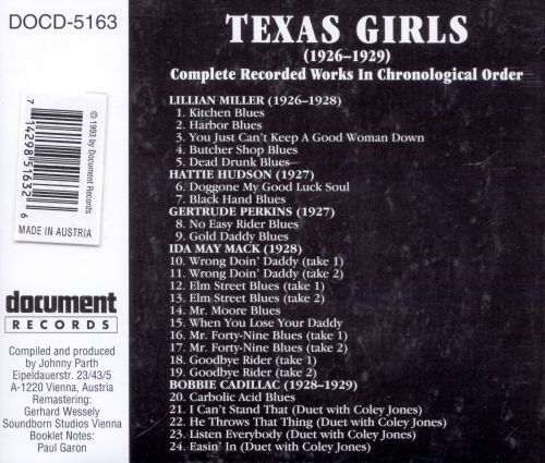 Texas Girls: Complete Recorded Works 1926-1929
