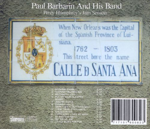 Sounds of New Orleans, Vol. 1: Paul Barbarin & His Band/Percy Humphrey's Jam Session