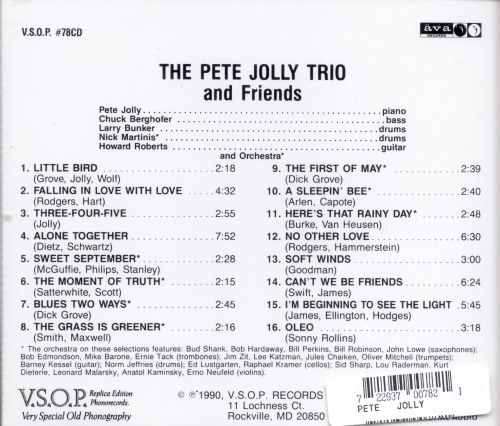 Pete Jolly Trio and Friends