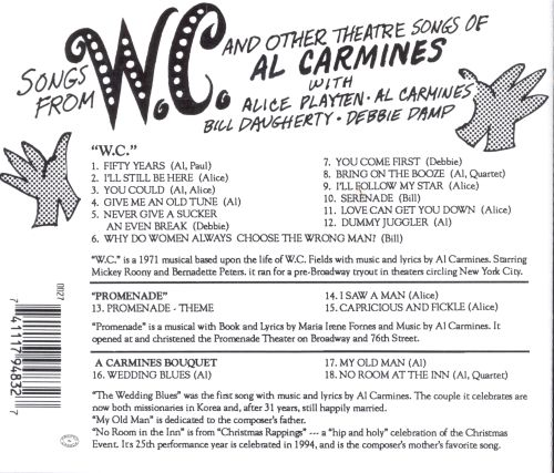Songs from W.C. & Other Theatre Songs of Al Carmines