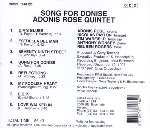 Song for Donise