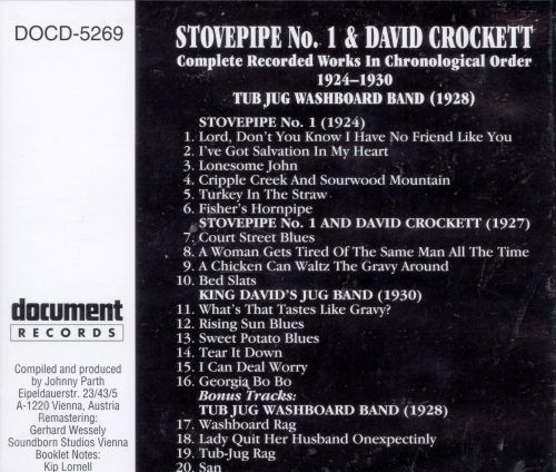 Stovepipe No. 1: Complete Recorded Works (1924-1950) & The Jug Washboard Band (1928)