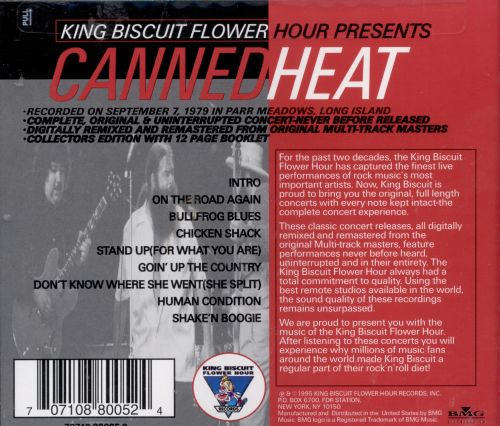 King Biscuit Flower Hour: Canned Heat In Concert