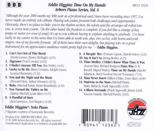 Time on My Hands: Arbors Piano Series, Vol. 6