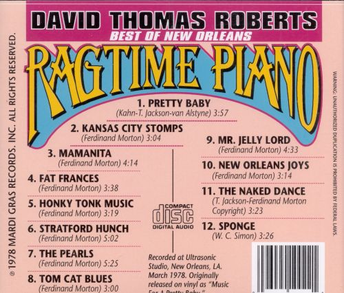 Best of New Orleans Ragtime Piano