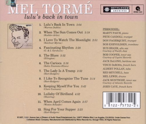 Mel Tormé with the Marty Paich Dek-tette