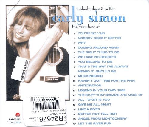The Very Best of Carly Simon: No Does It Better - Carly Simon ...